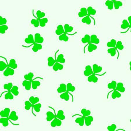 Seamless pattern of leaf clover. St.Patrick s Day. Vector illustration