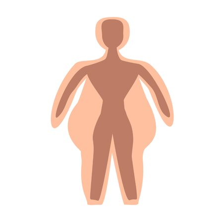 Obesity. Silhouette fat man. International Day Against Obesity. Infographics. Vector illustration on isolated background.