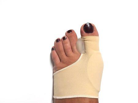 Toe Corrector Silicone Valgus Big Bunion Splint Straightener Foot. silicone support for orthopedic. Banco de Imagens