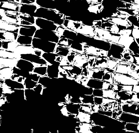 Black and white grunge texture. Vector illustration on isolated background