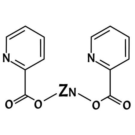 Zinc picolinate molecular chemical formula. Zinc infographics. Vector illustration on isolated background. Vektorgrafik