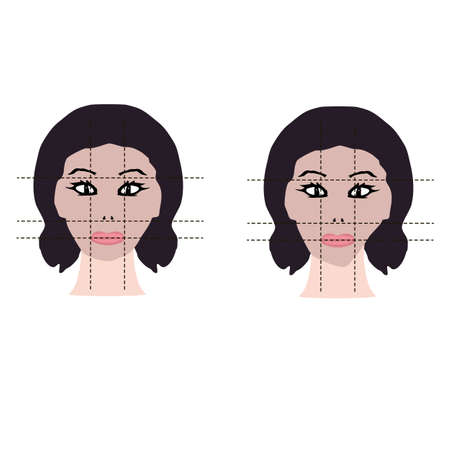 Face asymmetry. Cosmetic defect. Incorrect teeth bite