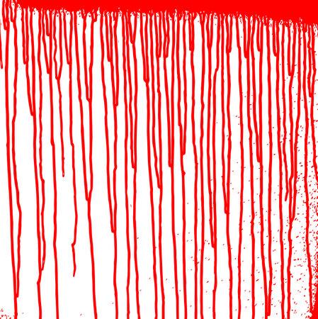 Red paint streaks on the wall. Blood splatters. Grunge texture. Blood paint background. Vector illustration Illusztráció