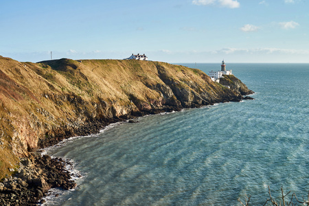 paddys day: Lighthouse in Ireland. Near to Dublin.