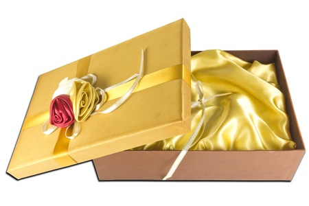 luxury gold give box photo