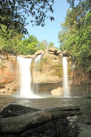 Waterfall haewsuwat, in kaoyai mountain, Thailand Stock Photo - 11532431