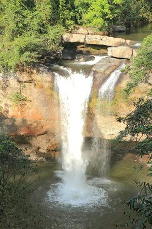 Waterfall haewsuwat, in kaoyai mountain, Thailand Stock Photo - 11532389