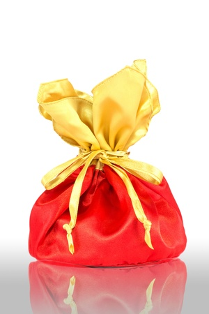 luxuly bag of gift on  white background photo