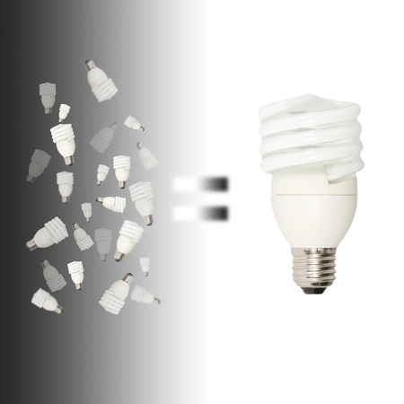 many small light bulbs equal big one photo