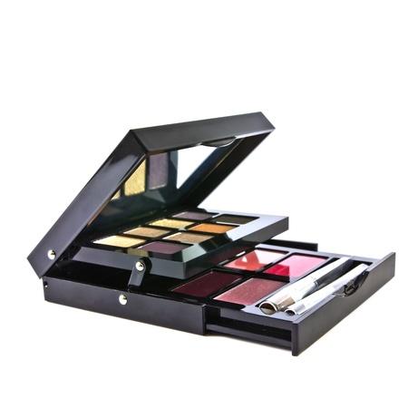 Makeup set, make-up eye shadows and lip gloss photo