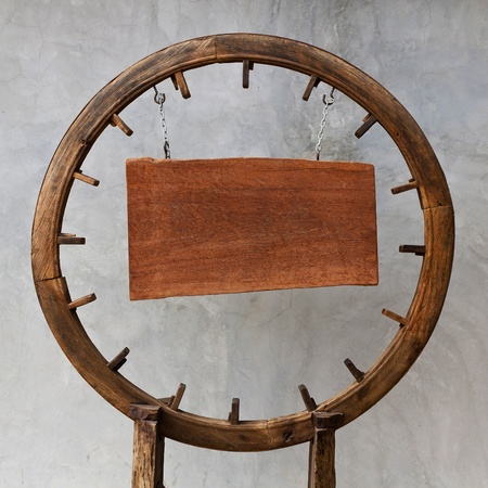 background with wooden circle board photo
