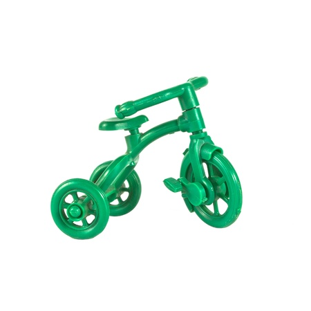 childen: A small green bicycle is model toy