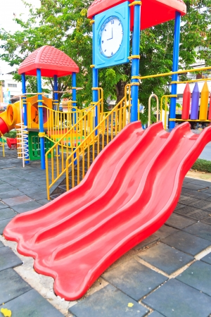 playpen: Colorful playground outdoor for childrens