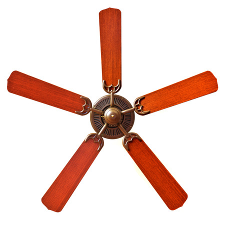 A vintage ceiling fans on white background photo