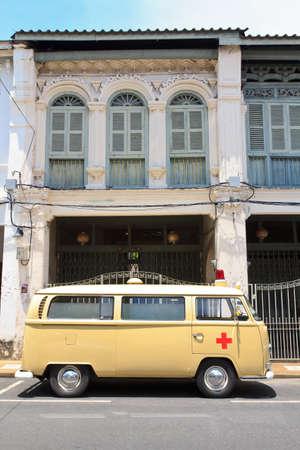 Ambulance vintage with vintage background Stock Photo - 25655742