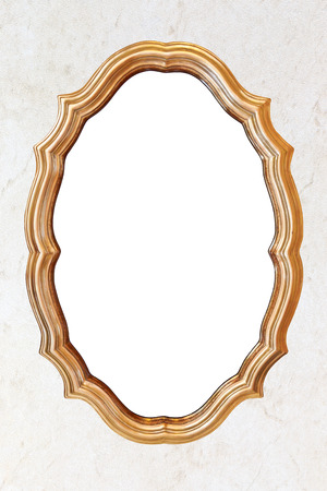antique frames: Blank vintage frame on abstract retro wallpaper background