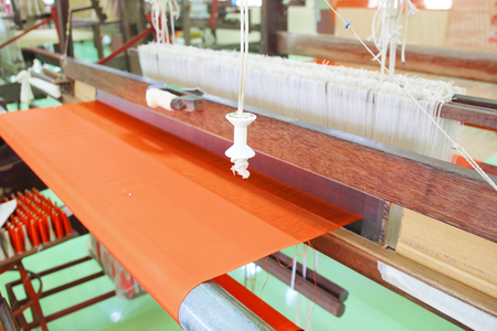insertion: Weaving loom is asia style Stock Photo