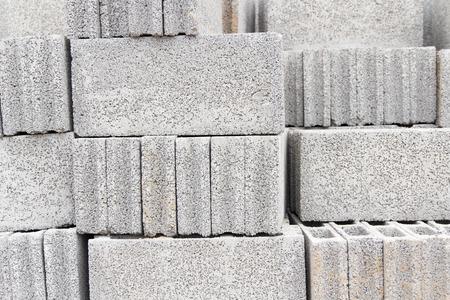 block: Background of stack concrete block
