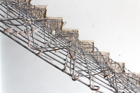 housebuilding: Background of structure cement stair