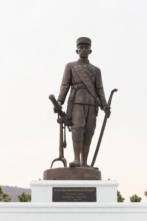 king ramkhamhaeng: HUA HIN, THAILAND-APRIL 22 : Thai king Mongkut (Rama lV) monument at Ratchapakdi Park on APRIL 22, 2016 in HUA HIN, Prachuap Khiri Khan Province, THAILAND. Rajabhakti Park is a historically themed park honouring past Thai kings. Editorial
