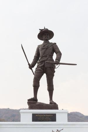 honouring: HUA HIN, THAILAND-APRIL 22 : Thai king Taksin the great monument at Ratchapakdi Park on APRIL 22, 2016 in HUA HIN, Prachuap Khiri Khan Province, THAILAND. Rajabhakti Park is a historically themed park honouring past Thai kings.