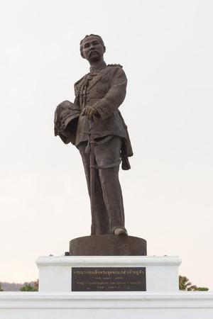 honouring: HUA HIN, THAILAND-APRIL 22 : Thai king Chulalongkorn the Great (Rama V) monument at Ratchapakdi Park on APRIL 22, 2016 in HUA HIN, Prachuap Khiri Khan Province, THAILAND. Rajabhakti Park is a historically themed park honouring past Thai kings.