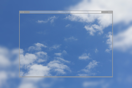 Web site page design concept, cloudscape blue sky and clouds pattern background. Stock Photo