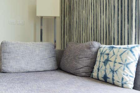 Modern sofa bed set in luxury hotel.