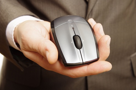 man holding computer mouse