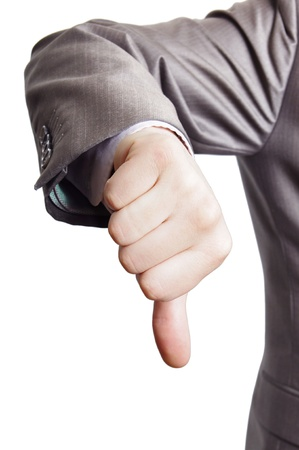 thumbs down