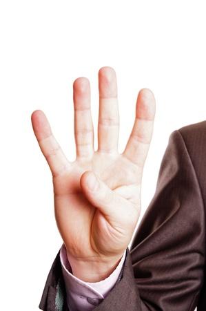 four finger sign