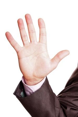 five finger sign