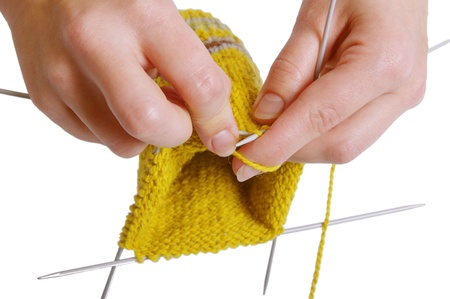 knitting a sock photo