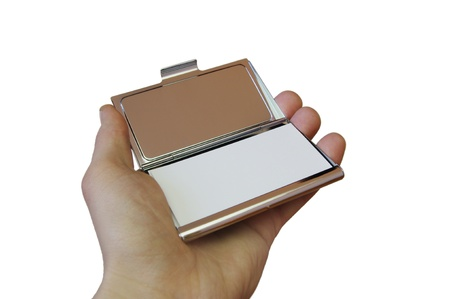 show case: business card holder