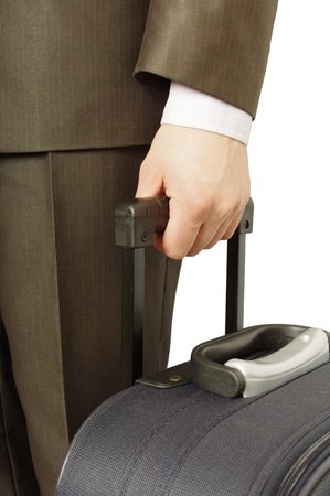abroad: man holding luggage