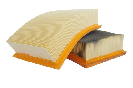 comparing new and old car air filters