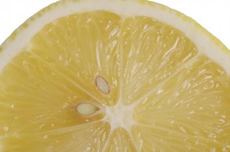 a slice of lemon