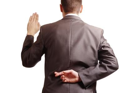 vingers gekruist achter een geschikt achterzijde en een arm verhoogd