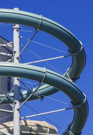 aquapark slides from outside