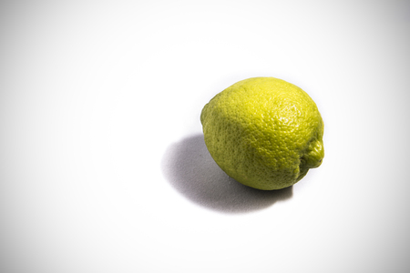 Lemon in the white background Stock Photo