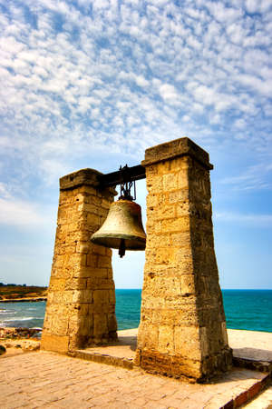 Ancient greek bell in Chersonese Stock Photo