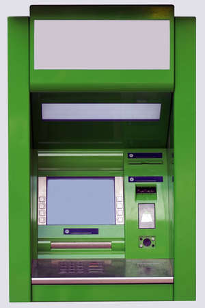 dispense: The isolated face-to-face photo of a cash dispense
