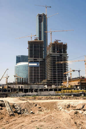 Construction of a new modern business centre  photo
