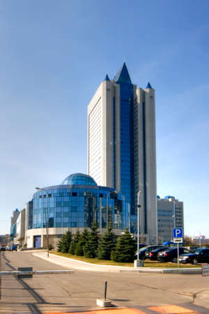 concern: Headquarters of gas Russian concern Gazprom in Moscow