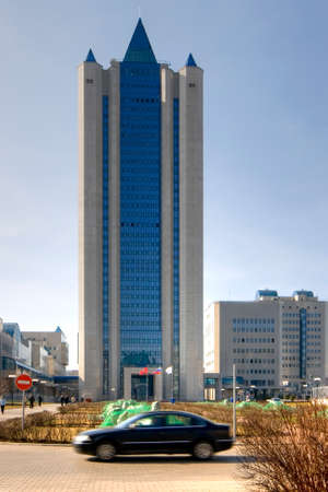 Headquarters of gas Russian concern Gazprom in Moscow photo