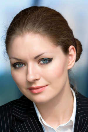 Portrait young businesswoman Stock Photo