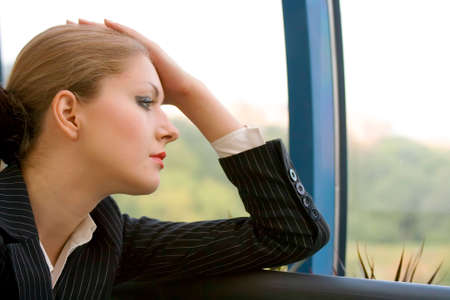 Businesswoman reflecting Stock Photo - 1566797
