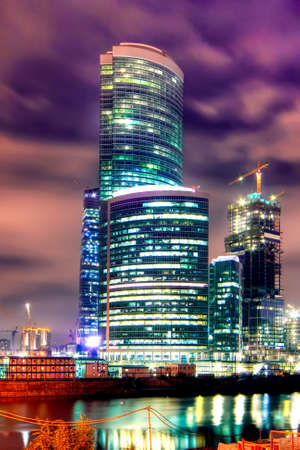 business centre: Construction of a new modern business centre Moscow City in Moscow (Russia)