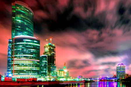 Costruzione di nuovo centro moderno citt� di affari de Mosca a Mosca (Russia)