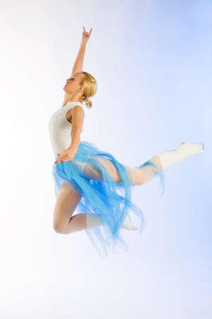 The girl the dancer on rehearsal